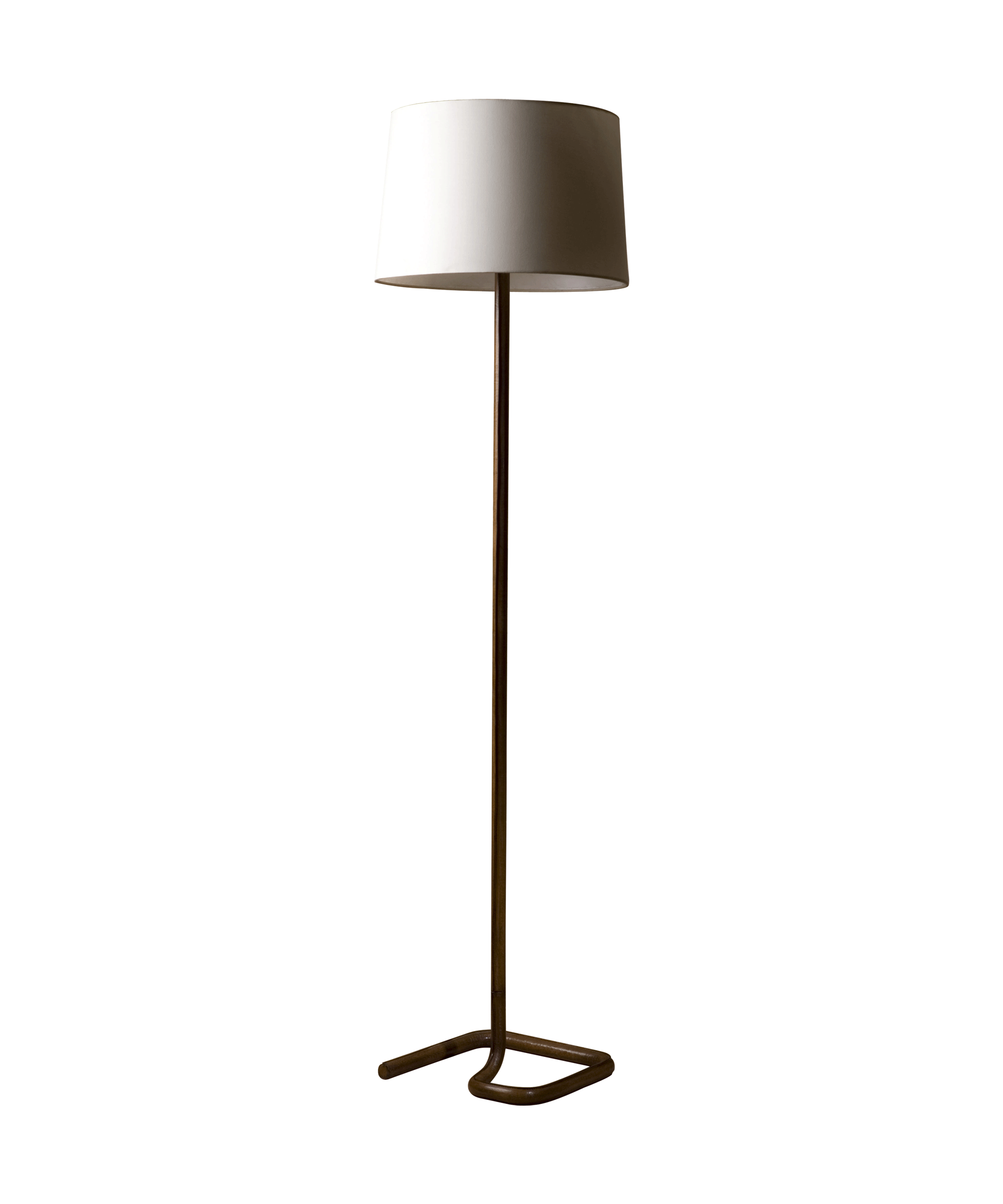 Floor lamp with white lamp shade