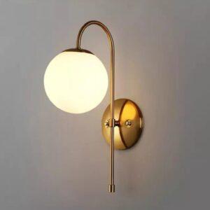 Metal Gold Globe Wall Light